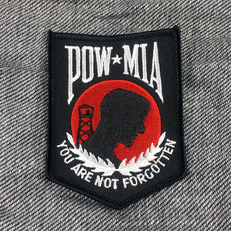 POW MIA Embroidered Patch
