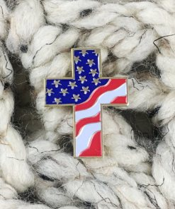 Patriotic Cross Pin