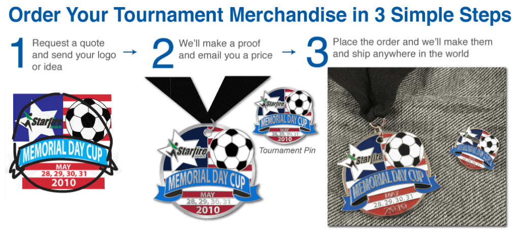 Tournament Medals Patches Pins