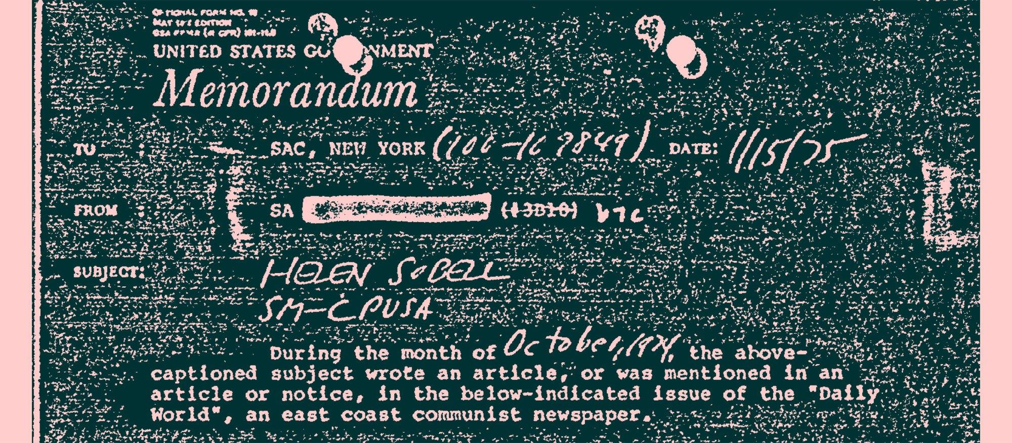 Helen Sobell FBI Document image