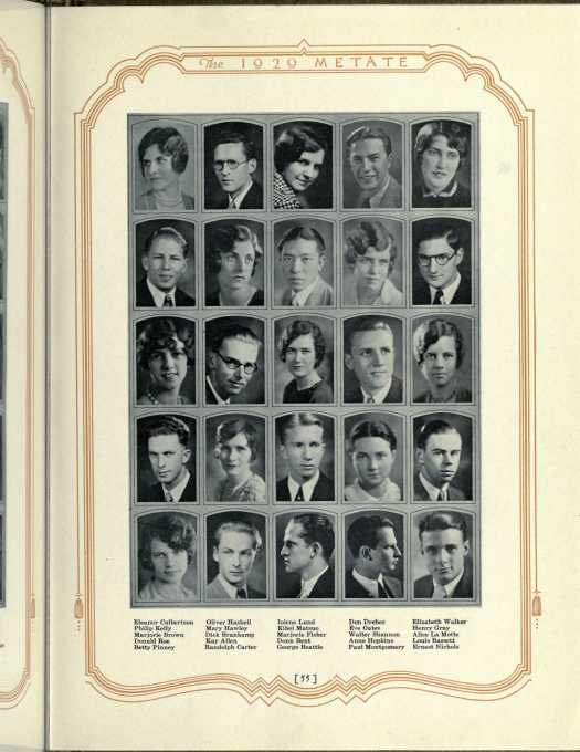 Metate Yearbook 1929