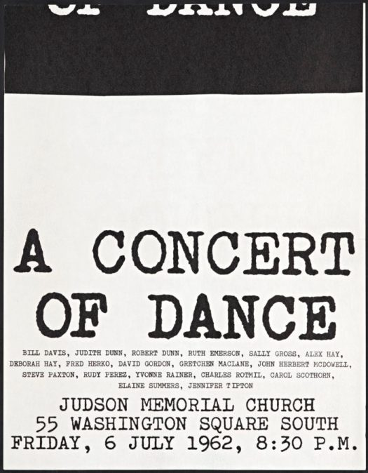 Judson Dance Theater Poster