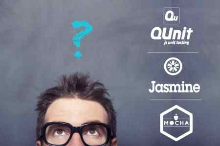Man Looking up with a blue question mark above his head