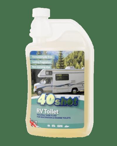 40 shot RV toilet product dispensing bottle