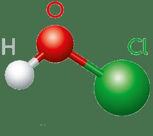 HOCl molecular structure