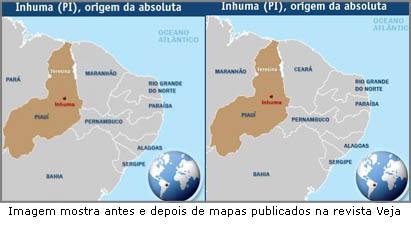 Segundo a Veja, onde existe o Ceará é na verdade o Maranhão. A leste daquele lugar que o presidente da Philips falou que não faria falta.