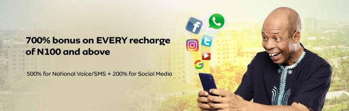Get 700% bonus on every recharge of N100 and above with MTN YafunYafun SIM Offer
