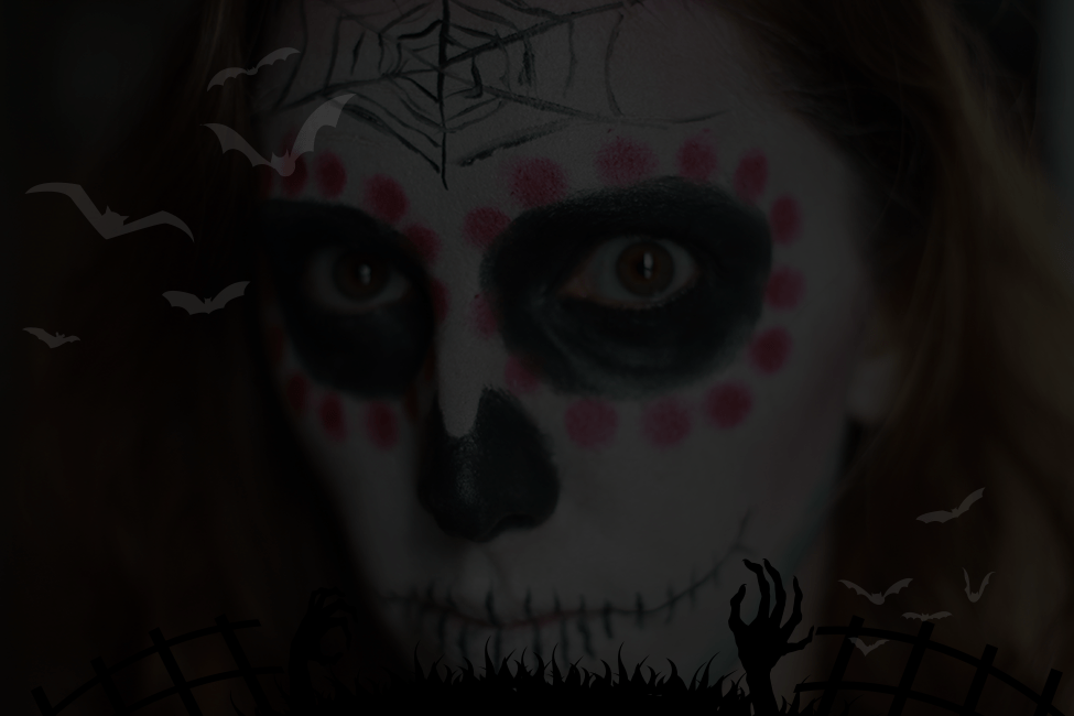 Maquillage Halloween tuto mexican skull montage