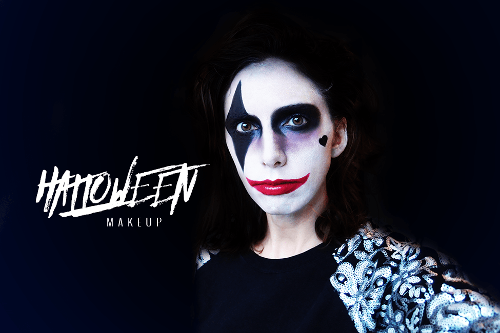 tuto maquillage facile joker halloween