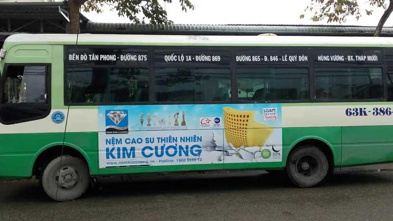 Báo giá quảng cáo trên xe Bus – Miền Tây