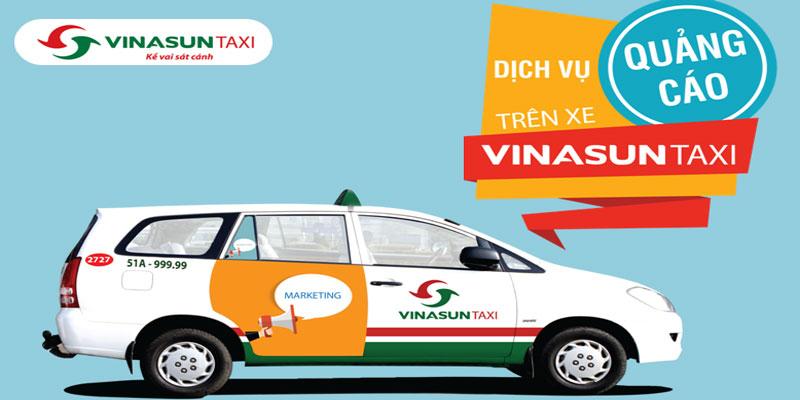Quảng cáo trên taxi Vinasun tại TP.HCM