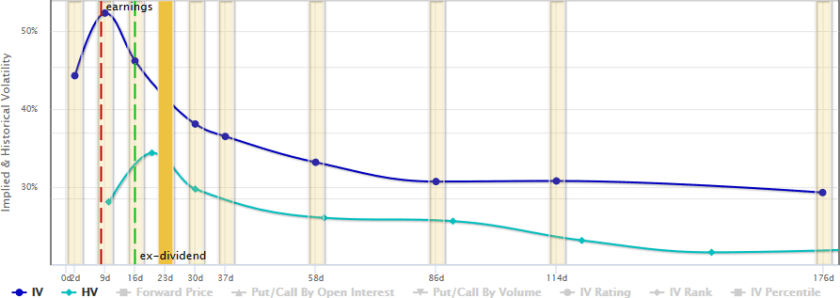 Term Chart with Volatilities