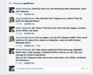 Facebook-Konversation klein