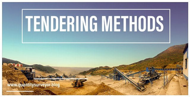 6 most popular types of tendering methods in the construction industry