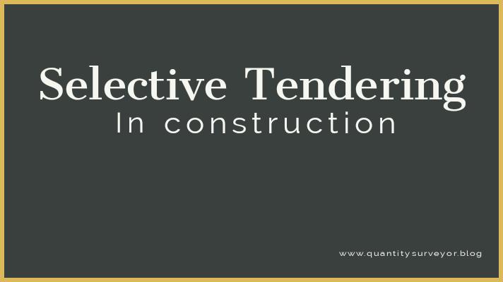 Selective tendering