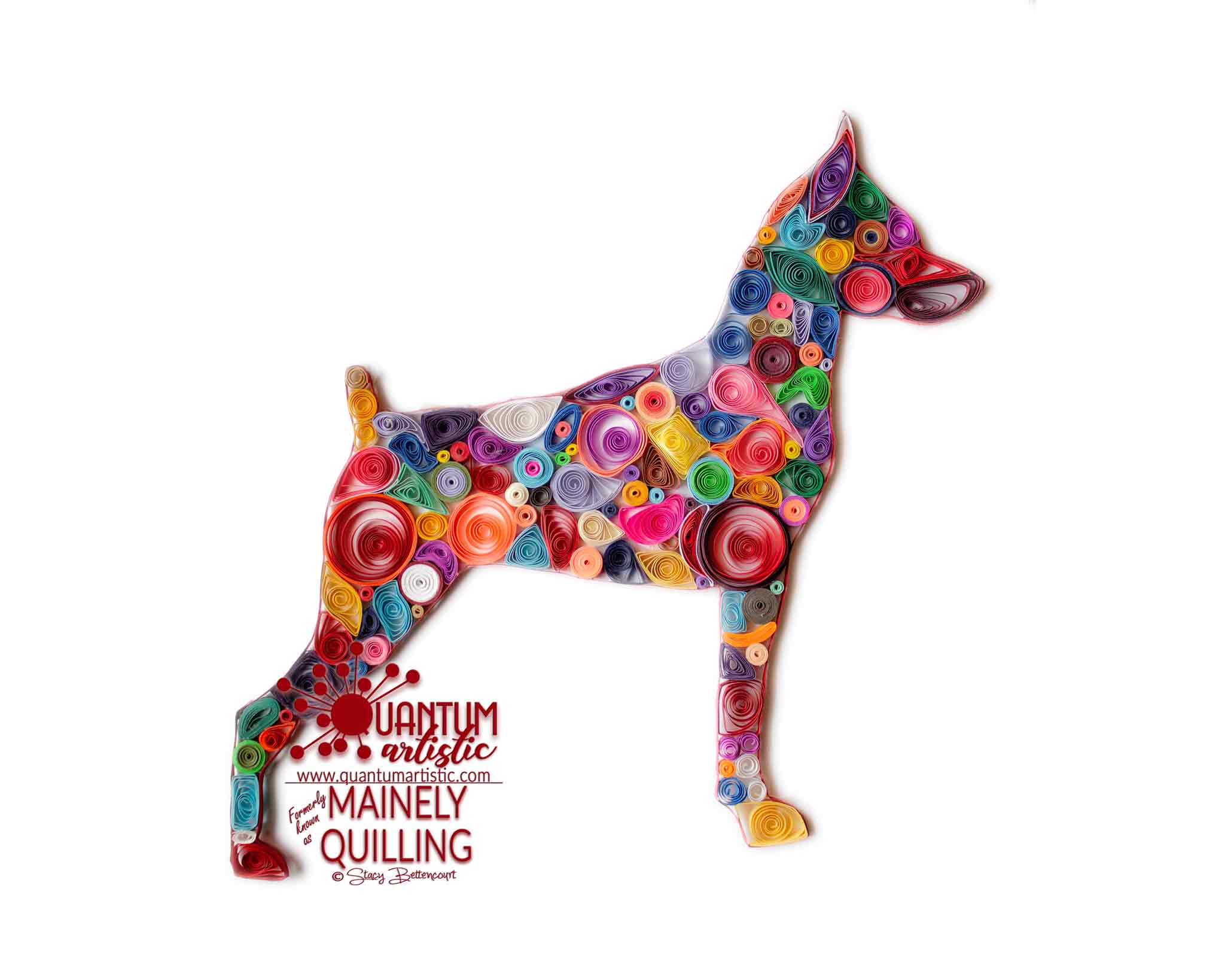 Patchwork Quilled Miniature Pinscher
