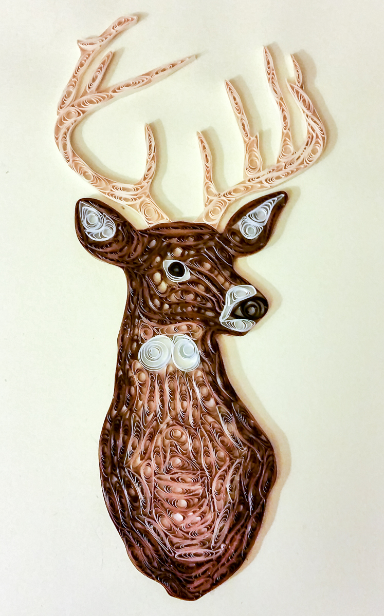 Quilled White Tail Deer