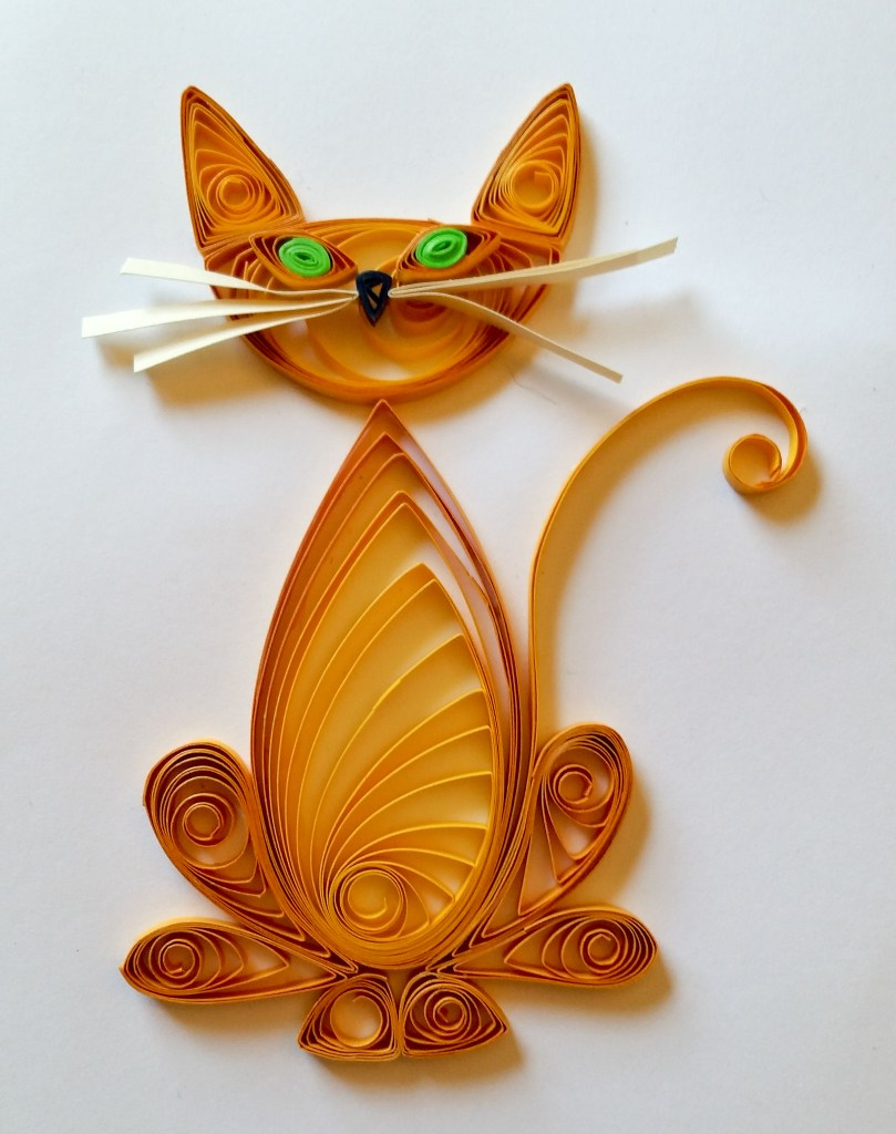 Simple Quilled Orange Tabby