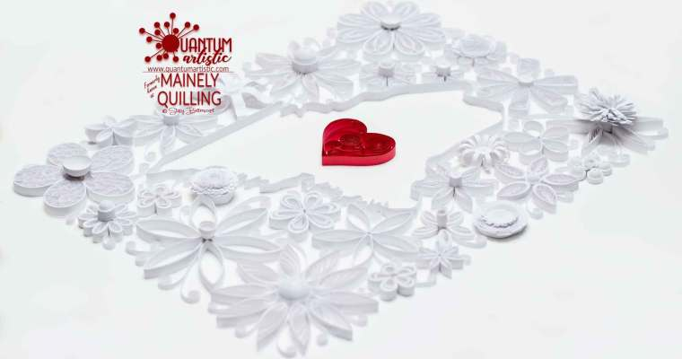 Quilled Floral State of Maine | White & Red