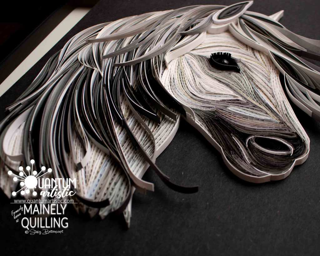 Paper Quilled White Horse