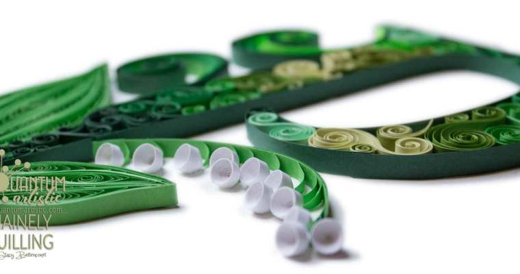 Quilled Lily-of-the-Valley Monogram   Letter P