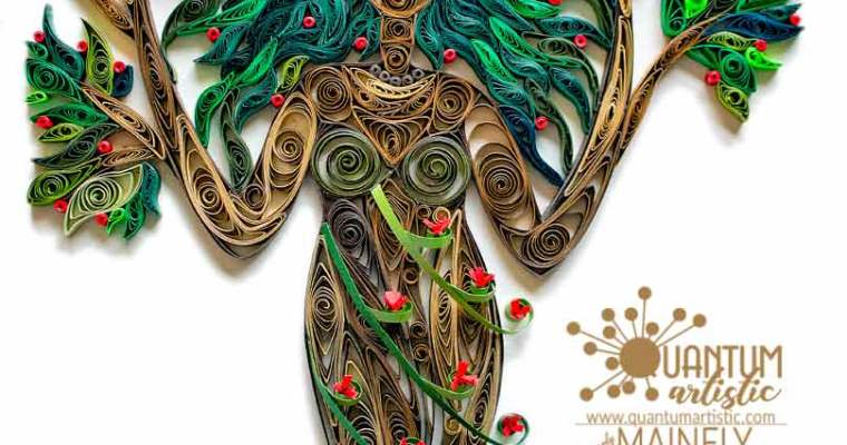 Paper Quilled Blossoming Dryad
