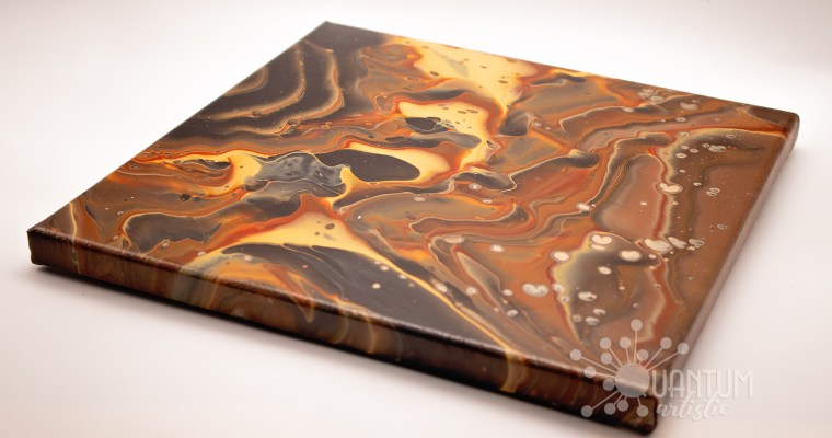 Banded Agate Pour Painting | Version 1