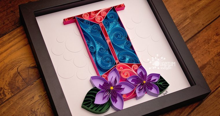 Quilled Letter I Monogram | Various Themes