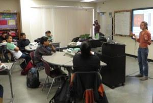Ana speaking to Navajo Prep students