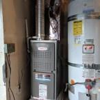Heater system installation - Upflow setup in a garage