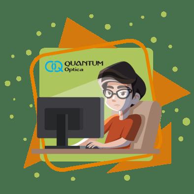 Quantum - Lentes alivian la fatiga visual - perosona leyendo un articulo