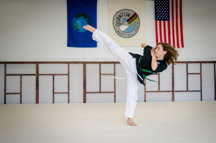 Round Kick, High Green Belt Adult Program