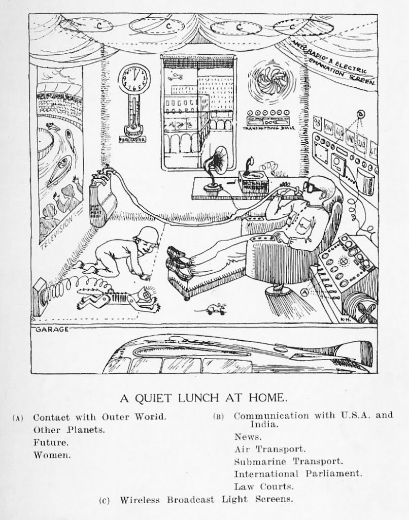 Predictions about the future are often wrong, these predictions from 1925 have never quite been born out, but the trends are often there, but the detail isn't. AM Low predicted flying cars, our home life and even the future of the fairer sex.