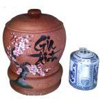 Bình Trà Gỗ Dừa Hoa Văn Lồng Chữ Gia Đình Và Bình Trà 700 – 950ml – [Quà Quê Dừa]