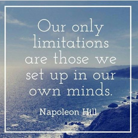 Napoleon hill quote limitations