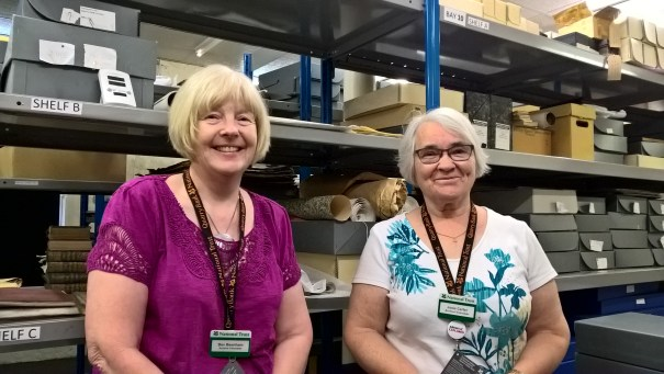 Bev and Josie, who volunteer in the Archives