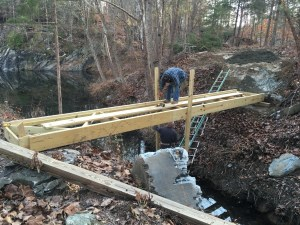 Bridge #1 in place