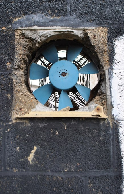 abandoned building fan