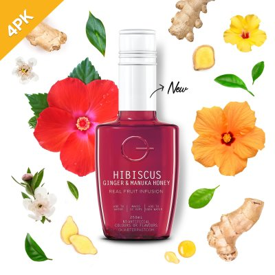 Q Hibiscus Ginger & Manuka Honey Infusion 250mL (4 Pack)