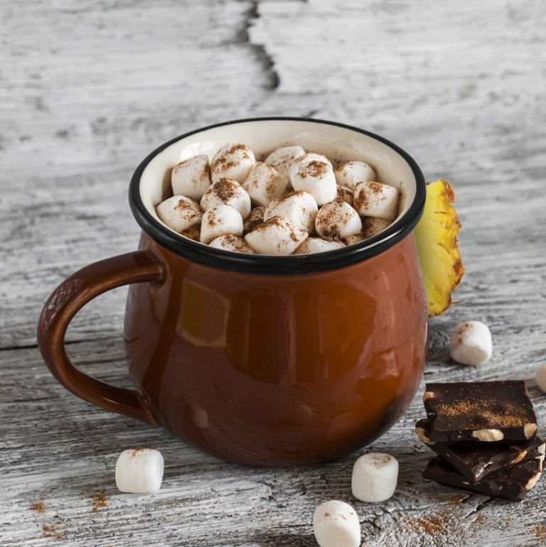 Rich Pineapple Hot Chocolate