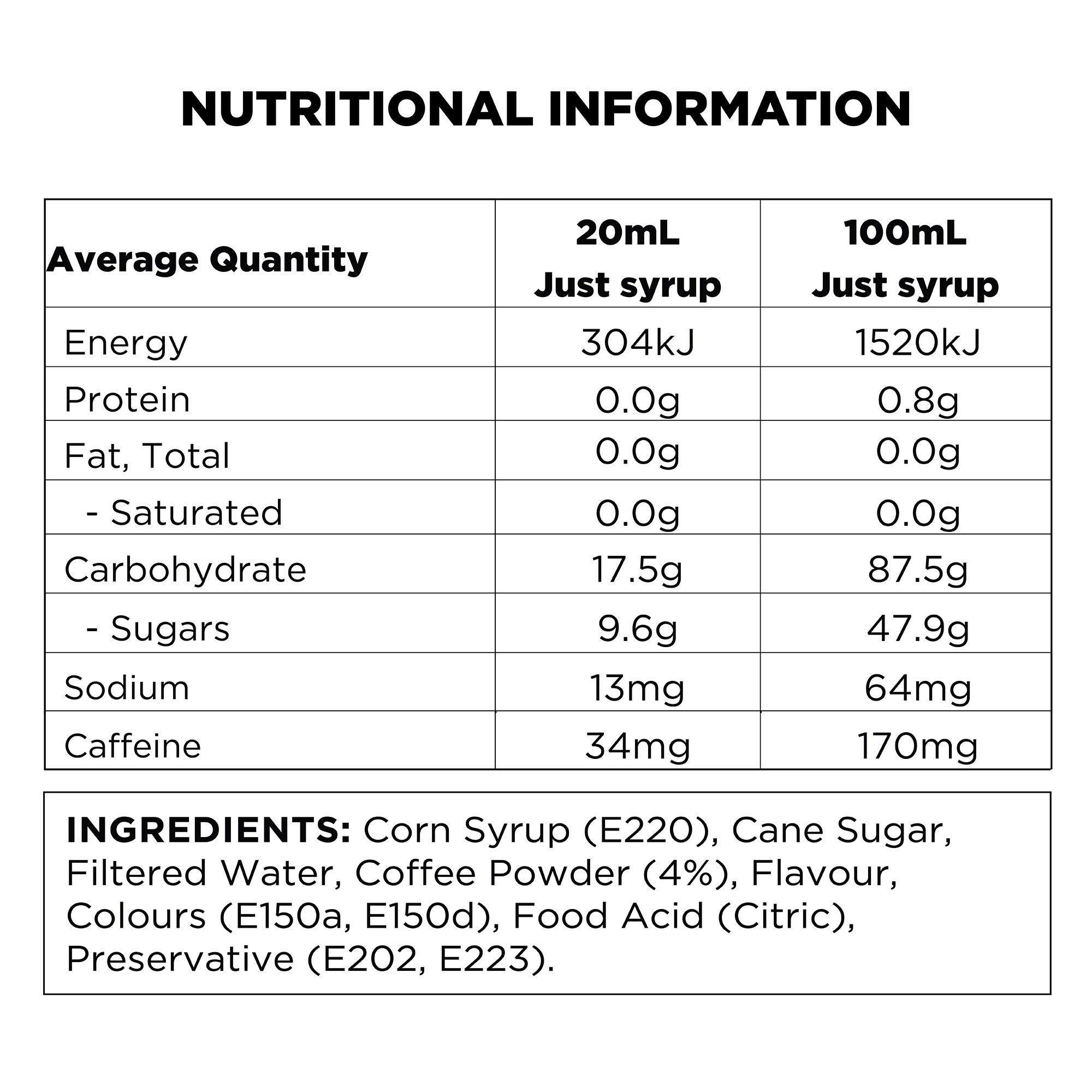 q-iced-coffee-nutritional-information