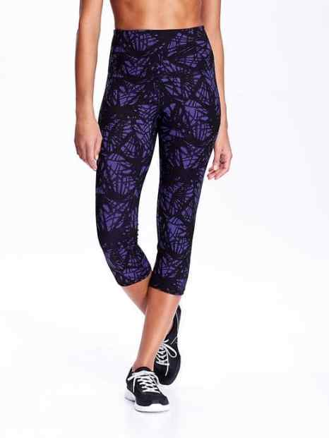 Old Navy Mid-Rise Go-Dry Compression Capris for Women- - $26.94