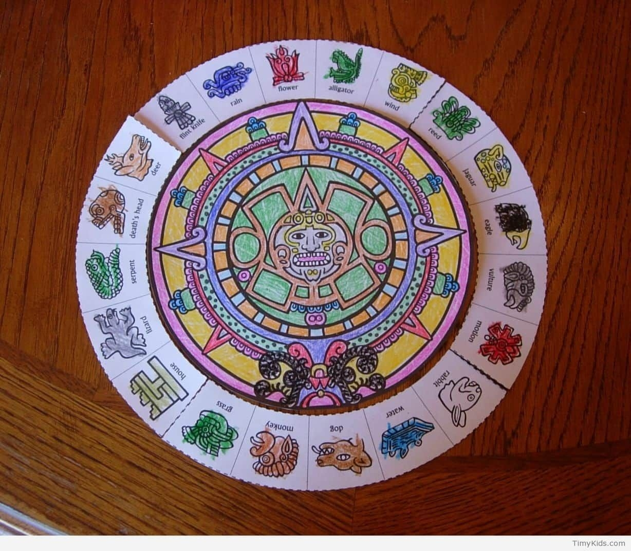 Universal Mayan Calendar Pictures For Kids