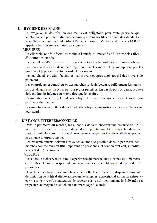 Plan sanitaire du marché aux puces.2