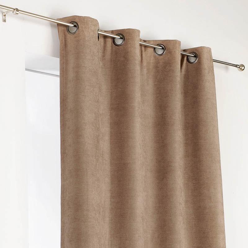 rideau obscurcissant isolant marron clair