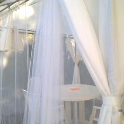 voile moustiquaire blanc