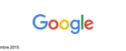 L'évolution du logo de Google.