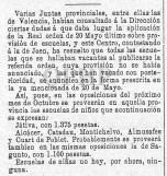 Concurso oposición para la escuela de niños de Quart (septiembre de 1881)