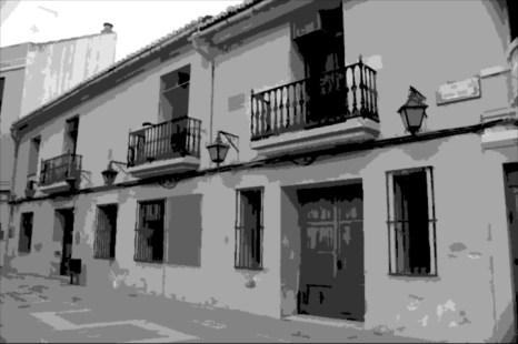 Edificio que albergaba el antiguo ayuntamiento de Aldaia (foto actual con tratamiento digital)