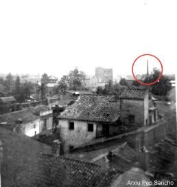 Vista de Quart des de les Teulades des del Carrer Cervantes cap l'est (Arxiu Pep Sancho).